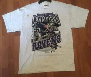Vintage Baltimore Ravens NFL T-Shirt Super Bowl Champions 2001 Large VTG Tee NWT