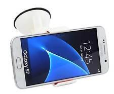 Supporto auto ventosa parabrezza pinze per Samsung Galaxy S7 e S7 EDGE + Bianco