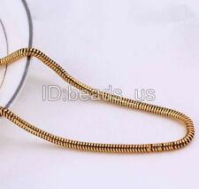 """Nice Jewlery For Cool Men 18K Gold Plated Snake Chain Brass Chain Necklace 23.5"""""""