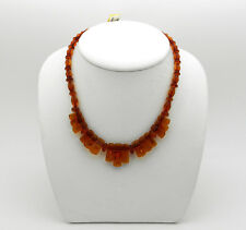 Baltic AMBER Natural Assorted Shape Beads Fancy Design Choker Necklace NIB #AN58