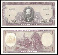 CHILE 1 Escudo, 1964, P-136, UNC World Currency