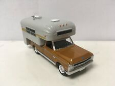 1970 70 Chevy C-10 With Silver Streak Camper Collectible 1/64 Scale Diecast