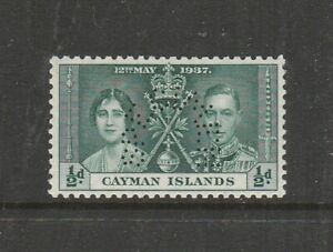 Cayman Islands 1937 Coronation Perf SPECIMEN 1/2d UM/MNH SG 112s