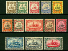 German Colonies - SOUTH WEST AFRICA 1900 Kaiser's YACHT set   Sc# 13-25  mint MH