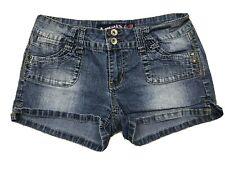 "Angels Womens  Sz 9 Blue Medium Wash Denim Flap Pockets Shorts (waist 29"")"