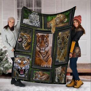 Tiger Wild Animals Printed Fleece Blanket Gift