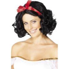 Parrucca Fata Nera Corta Ondulata Con Nastro PS 08098 Parrucche Da Donna Carneva