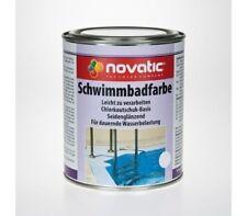 Novatic Schwimmbadfarbe Chlorkautschukfarbe Poolfarbe Lichtblau 2 5l
