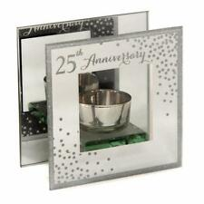 25th Silver Wedding Anniversary Tea Light Holder Gift WG83725