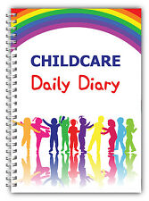 A5 DAILY DIARY CHILDCARE/EYFS/LOG BOOK/DAILY RECORD RING BOUND COLOURS