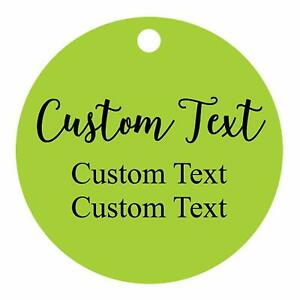 100 PCS Custom Made Any Text Hang Tags Round Shape Personalized-iWL