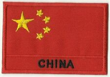 écusson ECUSSON BRODE PATCHE PATCH THERMOCOLLANT DRAPEAU CHINE CHINA DIM.7 X 5CM
