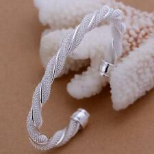 Fashion Noble 925 Silver Plated Women Dream Bangle Bracelet B20