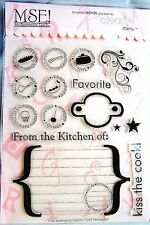 From the Kitchen of Recipe My Sentiments Exactly Clear Acrylic Stamp Set TT245