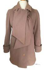 Ladies Kesta London Luxury Wool & Cashmere Coat UK 10, Removable Scarf, VGC