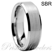Tungsten Carbide Ring Comfort Fit Wedding Band Mens Silver Gold Black Celtic AAA