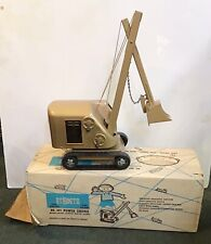 Vintage Structo Construction Steam Shovel EUC with Box GOLD TAN Color