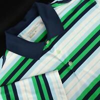 Men Nike Golf Tour Performance Dri Fit Green Athletic Golf Polo Shirt Size Large