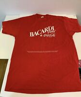 Vintage Rum And Coke Coca Cola Bacardi Rum LARGE T-Shirt Screen Stars 1980s RARE