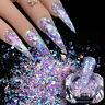 BORN PRETTY 1g Auroras Nail Glitter Powder Mirror Nail Art Chrome Pigment Decor