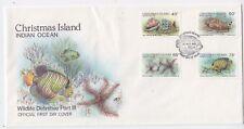Christmas Island 1987 Wildlife Def Part III (Fish) (SG 237/40)  FDC