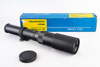 Optica 500mm f/8 MF Telephoto Lens In Box with Cap for Nikon F NEAR MINT V10