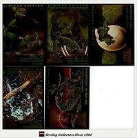 *Australia Dynamic Escape Of The Dinosaurs Trading Cards Chromium Card Set (5)