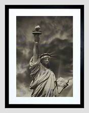 PHOTO COMPOSITION LANDMARK STATUE LIBERTY NEW YORK FRAMED ART PRINT B12X13068