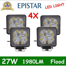 4X 4INCH SQUARE 27W LED WORK LIGHT OFFROAD TRACTOR FORKLIFT FLOOD LAMP 1980LM US