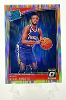 2018-19 MIKAL BRIDGES Donruss Optic Shock Holo Prizm Rated Rookie RC Suns #200