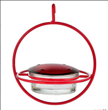 Couronne - Hanging Sphere Hummingbird Feeder with Perch - Red