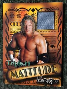 WWE WWF Triple H 2003 Fleer Aggression Matitude Event Used Mat Relic Card NEW!