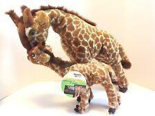 Discovery Channel Mamas & Babies Ganda & Joey Giraffes Plush Stuffed Animals BIG