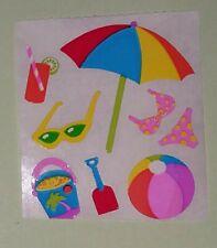 🦁Sandylion 1 Abriss Strand Papier Scrapbooking Sticker 90er selten🦁