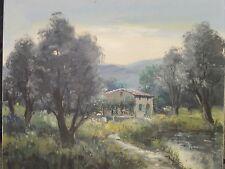 Mas en Provence . Tableau de Lucien Potronat ( 1889-1974 )