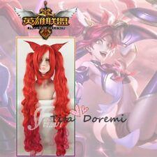 Halloween Wig Costume Game of Lol Jinx Red Cosplay Heat Resistant Hair 100cm