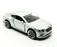 Majorette Bentley Continental GT V8 S Silver 1/64 no Package Free Display Box