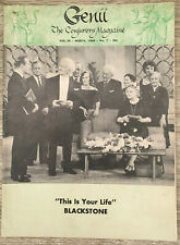 "Genii Magic Magazine March 1960 -""This is Your Life"" - Blackstone"