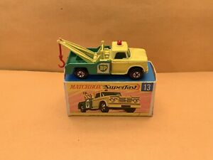 Rare Matchbox Superfast No. 13 Dodge Wreck Truck With Box
