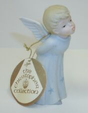 Vtg 1984 Lefton Christopher Collection Porcelain Blue Boy Angel Figurine