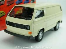 VOLKSWAGEN T3 VAN MODEL CAR 1:38 SCALE CREAM WELLY 43687 COMMERCIAL K8Q