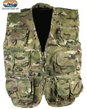 KOMBAT Bambini Giubbotto Antiproiettile BTP Woodland Camo Gilet Bambini Esercito/età 9-10