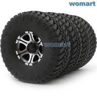 4pc RC 1.9 Crawler Mud Tires Tyre Height:114mm & 1.9'' Aluminium Beadlock Wheels