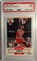 1990-91 Fleer #26 MICHAEL JORDAN Graded PSA 9 Mint, Chicago Bulls