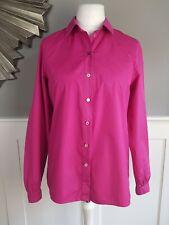 KENZO Womens Pink Shirt Long Sleeve Cotton Top Size 40 UK 12/14 Smart Office