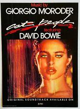 David Bowie Giorgio Moroder 1982 original Poster Advert Cat People
