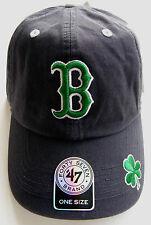 **NEW** BOSTON RED SOX ST PATRICKS DAY DARK NAVY SHAMROCK HAT CAP BY '47 BRAND