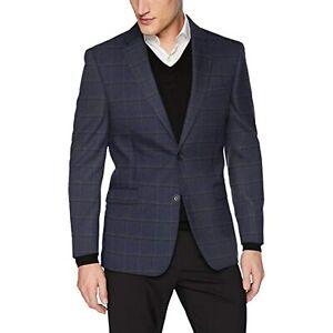 MSRP $295 Tommy Hilfiger Men's Classic Blazer Windowpane Blue Size 40 R/M37.5