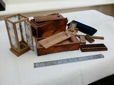 Antique Yosegi Japanese Marquetry Secret Compartments Soroban Writing Puzzle Box