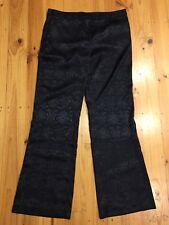 NWT Capture Black Jacquard Pants With Pockets Size 14